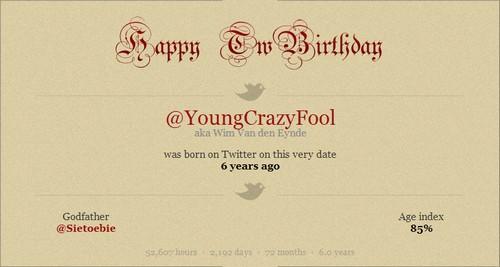 Twitter verjaardag