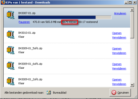 downloadsnelheid